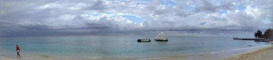 panoramic shot cornwall beach jamaica montego bay