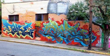 Graffiti at Little 5 Points inmark park