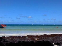 Kite Surfing at Good Hope Beach in Jamaica