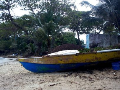 Boat on Boston Bay Shore - Jamaica