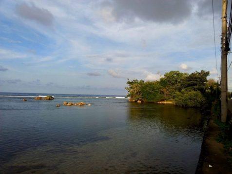 Caribbean Sea in Portland in Jamaica