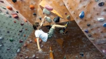 brian mott indoor rock climbing bouldering