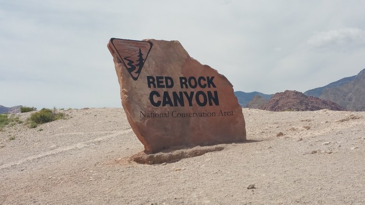 Red Rock Canyon Sign Vegas
