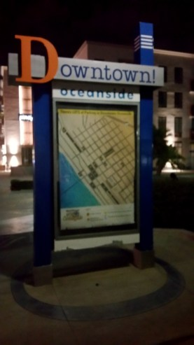 1 Downtown Oceanside at Night