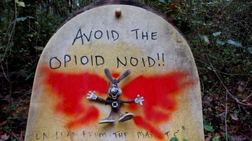 15 Constitution Lakes Bunny Opioid Art