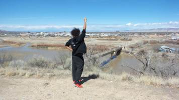 9 Eagle Rim Park Colorado Black Power Salute