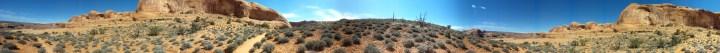 19 Corona Arches Hiking Trail Utah Panorma Desert Shot