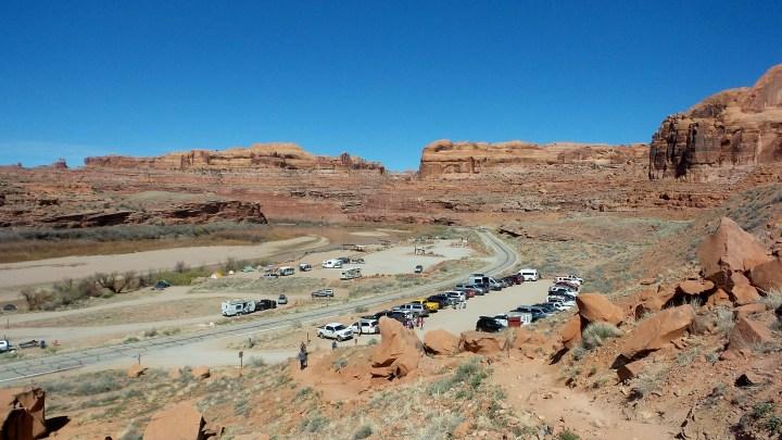 2.5 Parking Lot at Corona Arches Moab Utah Hiking Trail