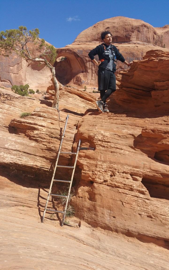 25.7 Ladder on Corona Arches Hiking Trail Utah Tristan O'Bryan.jpg