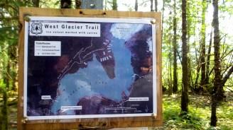 05 West Glacier Trail Mendenhall Glacier Hiking Map