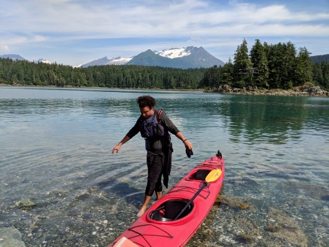 16 Sea Kayaking at Kayaker's Beach Juneay Alaska Tristan O'bryan