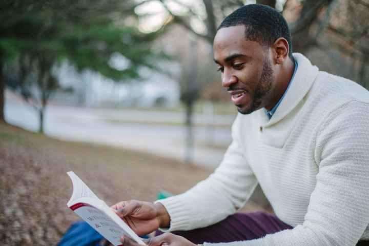 Black Man Reading