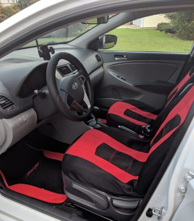2016 Hyundai Hatchback SE Interior Red & Black Seat Covers