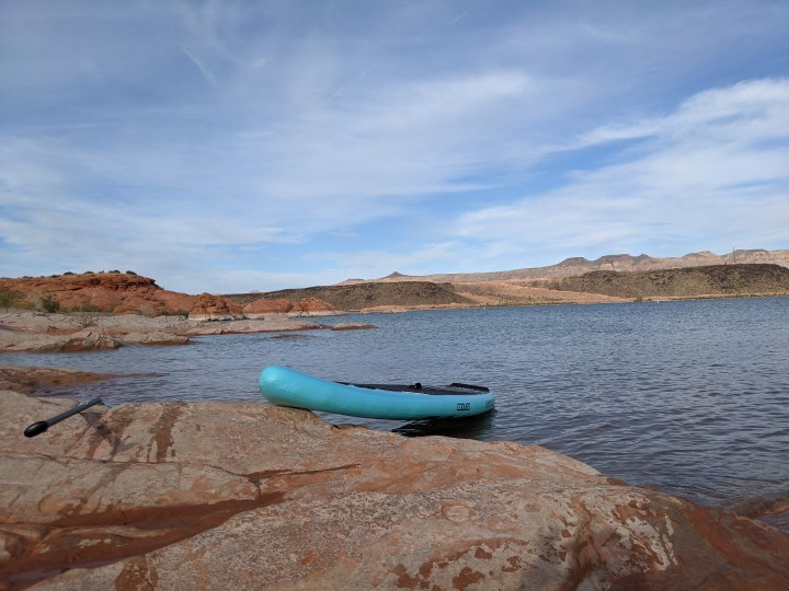RV Travel Vlog | Paddleboarding for the First Time in 8 Years at Sand Hollow State Park, Utah