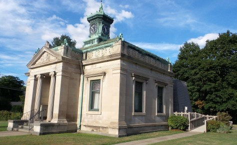 library masoleum new milford