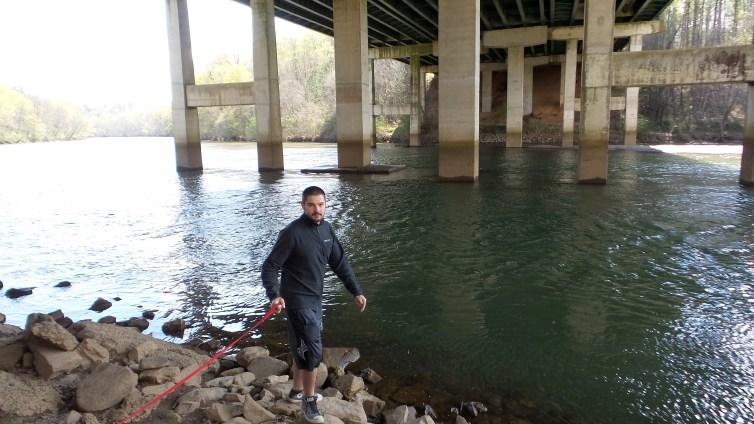 twotonetheartist hiking river bridge travel explore