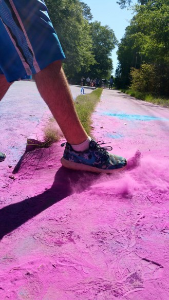 twotonetheartist color run 2016 pink powder fitness