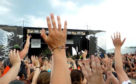 Big Crowd for Falling in Reverse at Vans Warped Tour 2016