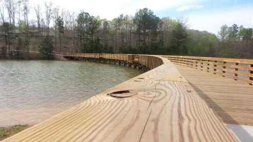 Wooden Bridge over Lake Georgia