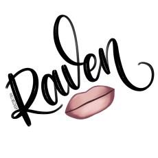 Raven - RuPaul's Drag Race lettering challenge
