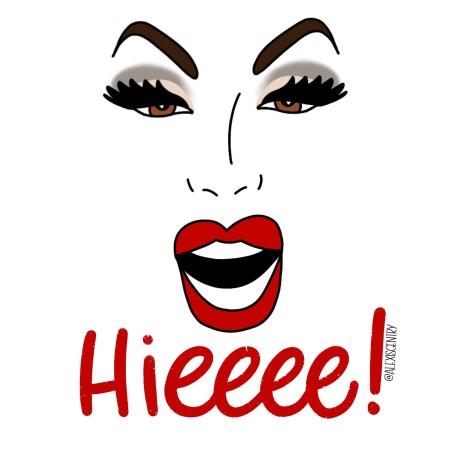Alaska 5000 - RuPaul's Drag Race lettering challenge