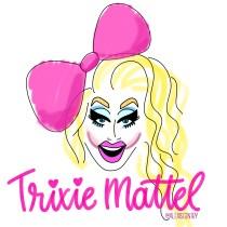 Trixie Mattel - RuPaul's Drag Race lettering challenge