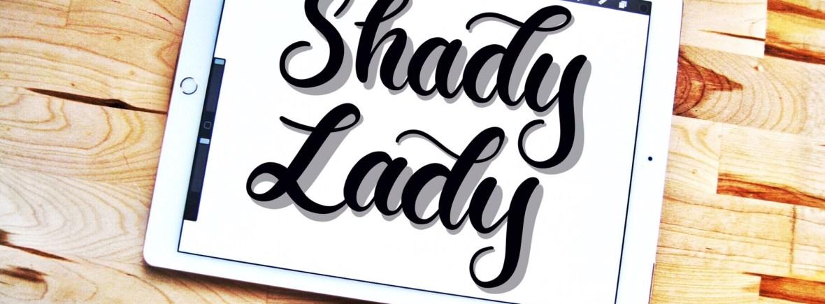 Shady Lady Procreate lettering brush