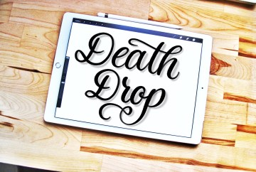 Death Drop lettering brush for Procreate