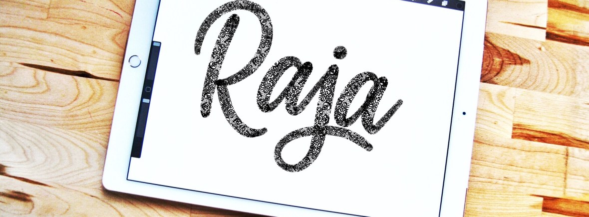 Raja lettering brush for Procreate app