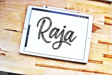 Raja lettering brush for Procreate app