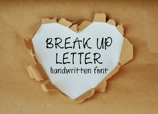 Introducing Break Up Letter, a new handlettered font