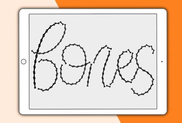 Bones Procreate lettering brush for iPad lettering