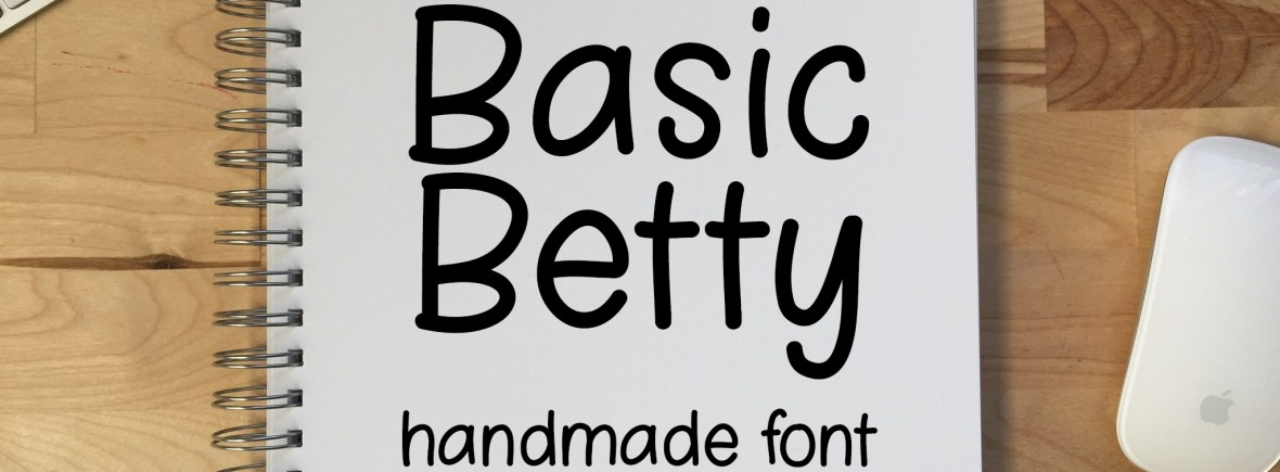 Basic Betty - a simple handwriting font