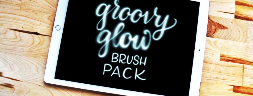 My Groovy Glow lettering brush pack is out now | Alexis Gentry
