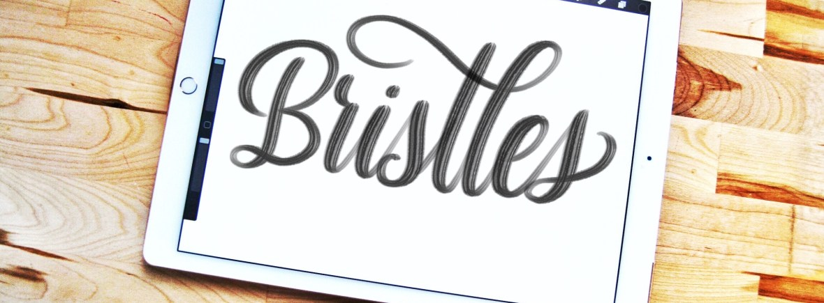 Bristles Procreate lettering brush