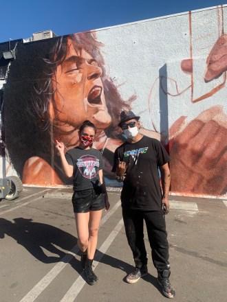 Robert Vargas - Eddie Van Halen Guitar Center Hollywood Mural