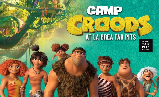 Camp Croods at La Brea Tar Pits