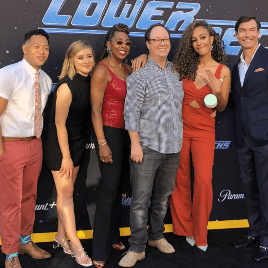 Eugene Cordero, Noel Wells, Dawnn Lewis, Mike McMahan, Tawny Newsome and Jerry O'Connell at the second season premiere of Star Trek: Lower Decks