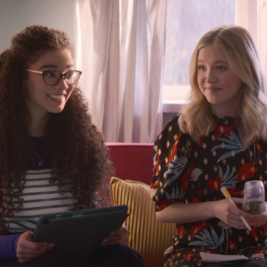 Malia Baker and Shay Rudolph in Netflix's The Baby-Sitters Club