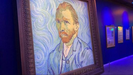 Portrait of Vincent Van Gogh at the Immersive Van Gogh in Los Angeles