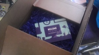 A greeting card for the onboarding package