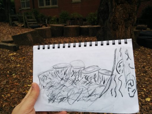 Tree Stumps at a playground