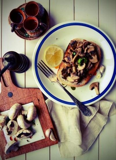 Bruschette cu ciuperci