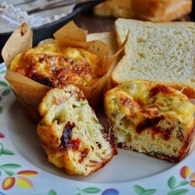 Brioșe pentru mic dejun / Bacon & Cheese Baked Egg Cups