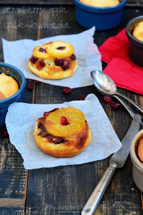 cranberry apple upside-down cake