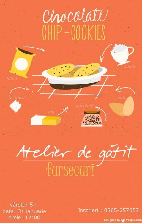 alexandra Juncu- Bucataria familiei mele- Atelier de gatit dedicat copiilor cookies cu ciocolata