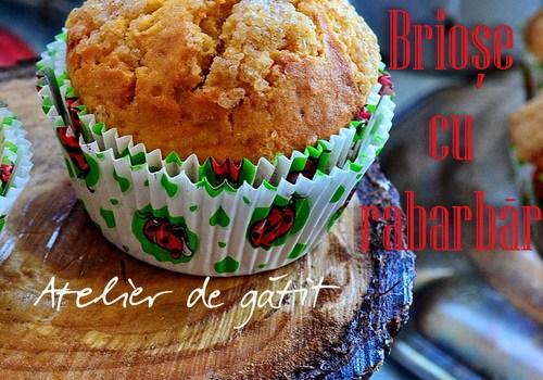 Atelier de gatit pentru copii – muffins cu rubarba