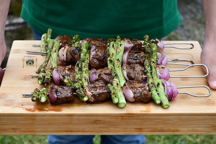 Sirloin steak kebab