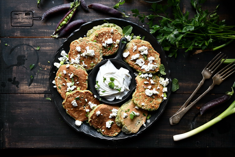 Pancake cu mazăre- Bucătăria familiei mele - www.alexjuncu.ro