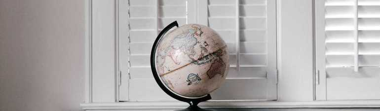 Globe on Ledge